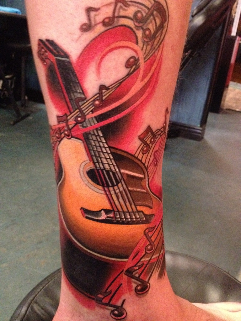 Letter 'K' to the letter 'R' Guitar Coverup  artbytommyblog